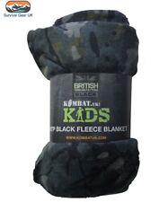 BTP Black Camouflage Kids Army Super Soft Snuggly Fleece Blanket 150x100cm Camo