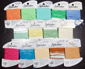 14x Needlepoint/Embroidery THREAD RAINBOW GALLERY Splendor 12ply silk-ZZ597