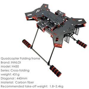 INNLOI H450 drone frame 440mm folding carbon quadcopter frame for rescue patrol