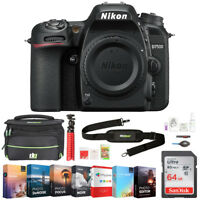 Nikon D7500 20.9MP DX-Format 4K Ultra HD DSLR Camera (Body Only) + 64GB Bundle