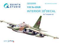Quinta QD32006 1/32 Su-25UB 3D-Printed & coloured Interior (for Trumpeter kit)