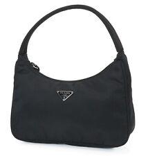 Authentic PRADA Black Nylon Small Tote Handbag Purse #37135