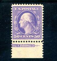 USAstamps Unused VF US Serie of 1908 Washington Partial Imprint Scott 341 OG MNH