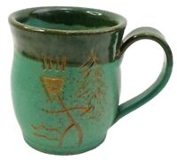 Hand Thrown Pottery Mug By Jim Tripp NC Studio Stoneware 2003 Lumber River Run
