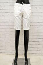 Bermuda Donna DIESEL Taglia 26 Pantalone Corto Pantaloncino Shorts Woman Bianco