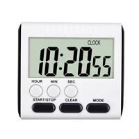 LCD Digital Large Kitchen Cook Timer Count-Down Up Clock Loud Alarm Magnetic QE