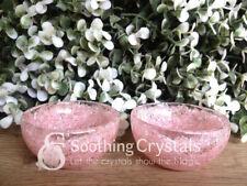 Orgone Rose Quartz Gemstone Handcarved Bowl Prayer Bowl ~ BWL253