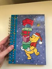 Disney Winnie The Pooh Christmas Notebook Journal Tablet - Spiral Bound Lines