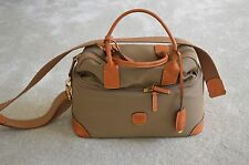 Brics Milano Carry On Holdall Zip Shoulder Leather Handle Stud Base Bag