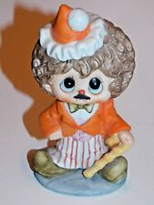 Vintage Clown Boy with Mustache and Cane