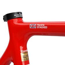 4x sovrapposto personalizzato nome FRAME ROAD Cycle Bicicletta Telaio della Bicicletta Adesivi Decalcomanie