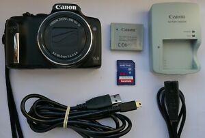 Canon PowerShot SX170 IS 16.0MP Digital Camera - Black + 64 GB Memory Card