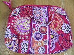 Vera Bradley Purse Cosmetic Handles, Lined Make-up Bag Pink Elephant Fizz - NWT!