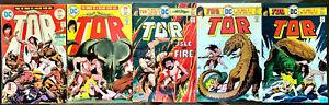 set of 5 TOR comics issues #1-4 & #6 all 1975 Bronze Age DC comics