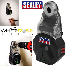 Sealey Vacuum Drill Dust Extractor Collector 3V Spirit Level Laser Drilling
