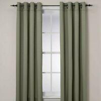 "Insola Odyssey 95"" Window Curtain Panel Seagrass Room Darkening Set of 2"
