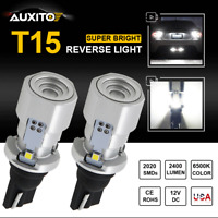 Bright White Canbus Error 921 T15 912 W16W LED Reverse Back Up Light 2400LM Bulb