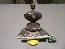 """~ LARGE ANTIQUE OAK NEWEL POST FINIAL~ 9.75"""" TALL ~ ARCHITECTURAL SALVAGE ~"""