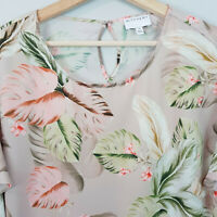 [ WITCHERY ] Womens Floral Leaf Print Blouse Top   Size AU 10