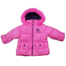 Protection System Baby Girls' Faux-fur Hooded Puffer Jacket, Pink, 24 months