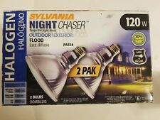 sylvania night chaser outdoor halogen floodlights 120w 2 pack