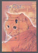 TURKS & CAICOS, Sc #1441, MNH, 2003, S/S, Cat, Kurile Island bobtail, CA308