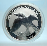2011 AUSTRALIA Kookaburra Bird Tree 1 oz Silver 1 Dollar Australian Coin i77556