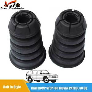2 Rear Bump Stops Kit Extended Rubber For Nissan GQ GU Patrol 80 series Bolt In