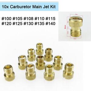 10Pcs Motorcycle Carb M5 Main Jet Kit 100 105 108 110 115 120 125 130 135 140