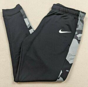 Nike Dri-Fit Fleece Tapered Training Sweatpants Camo Black/Gray Men's Large