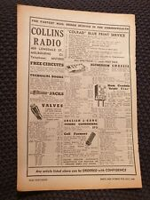 Collins Radio, Lonsdale St, Melbourne - 1947 Advertisement
