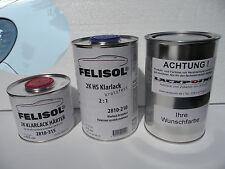 2,5 litros Set barniz claro + pintura base para pulverizar VW lb9a Blanco CANDY