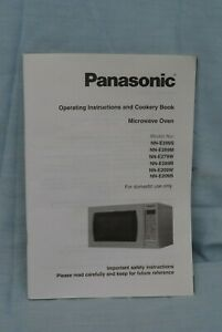 Operating Instructions and Cookery Book Panasonic Microwave Oven various models