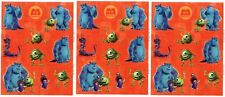 3 Sheets Disney MONSTERS INC Scrapbook Stickers! Mike Sulley BOO!