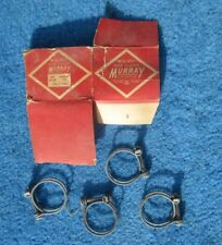 "Vintage Wire Band Screw 1"" Hose Clamps 4 NOS Original Murray Made in USA"