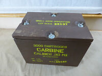 US ARMY WW2 Munitionskiste Carbine Cal.30 M1 Cartridges in cartons Holz Kiste
