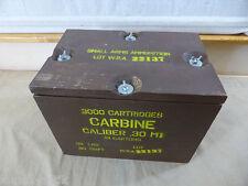 US Army ww2 cassa di munizioni Carbine cal.30 m1 cartridge in cartons cassa di legno