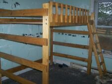 HEAVY DUTY FULL  SIZE  LOFT BED 60  INCHES TALL W/ 47  INCH CLEARANCE