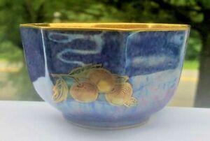 Wedgwood Fairyland Fruits Lustre Octagonal Bowl Daisy Makeig-Jones c:1920