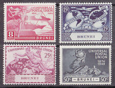Mint Hinged George VI (1936-1952) Brunei Stamps