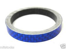 """Bike Bicycle Headset Stem BLUE Carbon Fiber Spacer 1-1/8"""" 5mm"""