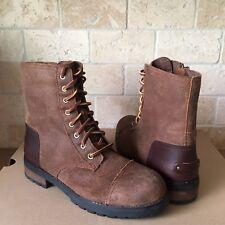 UGG Kilmer II Chipmunk Leather Fur Moto Combat Short Boots Size US 8 Women