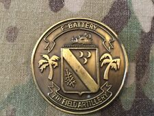 F Battery 7th Field Artillery 25th Infantry Division Challenge Coin