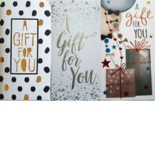 6 x Multipack Gift Voucher Cards Money Wallet Cards For Cash Gifts