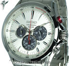 New SEIKO SOLAR CHRONOGRAPH SILVER FACE WITH STAINLESS STEEL BRACELET SSC491P1