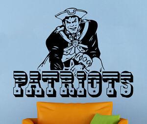 New England Patriots Wall Decal NFL Vinyl Sticker Sport Decor Football Emblem