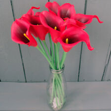 Artificial Calla Lily Flowers in Vase - Real Touch Flowers