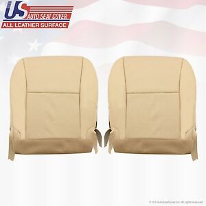 Fit 2010 Lexus RX350 Driver & Passenger Bottom Leather Seat Cover Tan Perforated
