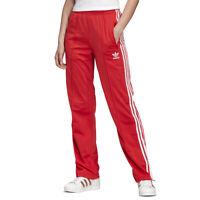Adidas Women's Originals Firebird Lush Red/White Track Pants FM3266 NEW