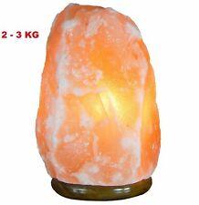 Himalayan Salt Lamp 2-3KG Hand Carved Natural Therapeutic Salt Rock Crystal Lamp